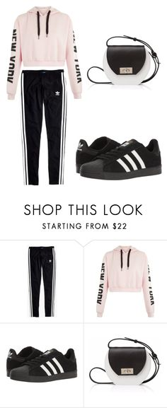 """When you let a 12 year old make an outfit on your polyvore account "" by mrsagosto ❤ liked on Polyvore featuring Madewell, adidas and Joanna Maxham"