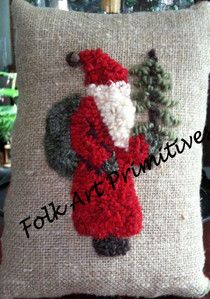A DAY IN THE LIFE ~ ~ ~: SANTA PILLOW PATTERN ~ ~ ~