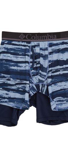 Columbia Diamond Mesh Brush Stroke Boxer Brief 2-Pack (Brush Stroke 2/Dress Blue) Men's Underwear - Columbia, Diamond Mesh Brush Stroke Boxer Brief 2-Pack, RM8C212-410, Apparel Bottom Underwear, Underwear, Bottom, Apparel, Clothes Clothing, Gift, - Fashion Ideas To Inspire