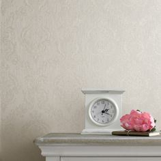 Damask Cream Shimmer   Graham & Brown... I found it! This is the wallpaper I want for the dining room. @kosykaty Should I buy it? How many rolls would I need?
