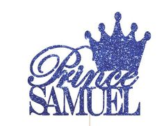 Royal Prince Baby Shower Decorations - Cake Topper