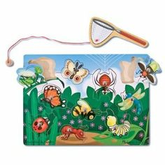 Amazon.com: Melissa & Doug Deluxe 10-Piece Magnetic Bug Catching Game: Toys & Games
