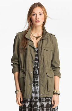 cute army jacket-would go with everything from feminine dresses to simple tees and jeans.