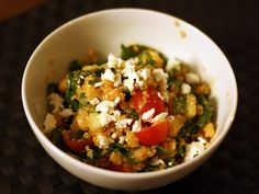 Quinoa, Chickpea, and Spinach Salad with Smoked Paprika Dressing