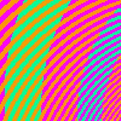 Enlarged Section -- You might not believe it, but the green and blue are actually the same shade of blue all the way through. The surrounding red shade just changes the perception of how you see it; the spiral shape only makes it easier for our brain to misidentify the colors. -- Cosmopolitan -- 2-27-15 -- 10 Optical Illusions Even Trippier Than #TheDress