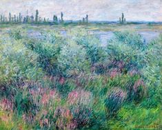 Banks Of The Seine At Vétheuil by  Claude Monet, 1881