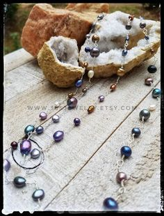 Baroque Pearl Necklace, Cultured Pearl Necklace, Pearl Chain, Baroque Pearls, Cultured Pearls, Wire Jewelry, Handmade Jewelry, Baroque Fashion, Rocks And Gems