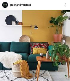 Cozy Home Interior .Cozy Home Interior Yellow Walls Living Room, Colourful Living Room, Living Room Red, Home And Living, Living Room Decor, Yellow Couch, Ethnic Living Room, Modern Living, Deco Ethnic Chic