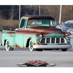 """""""Really diggin the faux-tina paint job on this killer '56 Chevy from @mainmotorcompany. Add on the wide whites and static drop and you have a sweet cruiser!"""""""
