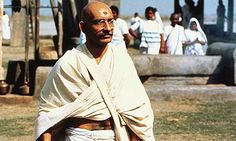 Ben Kingsley as Mahatma Gandhi in Gandhi Mahatma Gandhi, Gandhi Life, Leonardo Dicaprio, Kramer Vs Kramer, 1980s Films, Richard Attenborough, Ben Kingsley, The English Patient, Saving Private Ryan