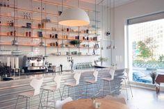 Aamanns Copenhagen restaurant in Tribeca, New York, Remodelista. Different route but some ideas...