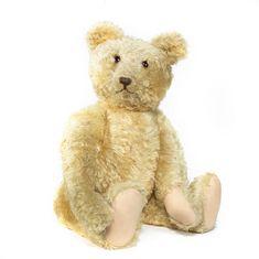 Large blonde mohair Teddy bear, probably Steiff 1920's
