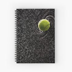 Tennis Gift ~ Tennis Notebook ~ Summer Sports Gift ~ Black Spiral Notebook, Workout Planner Notepad, Journal for Athlete, Tennis Photo Diary