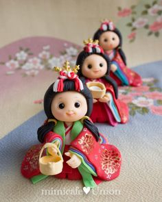 """Japanese """"Hina"""" Doll Fondant Toppers"""