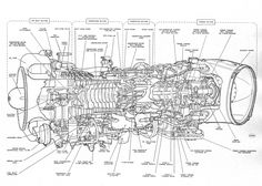 99 best aircraft engine cutaway and line drawings images jet Small Gas Engine HP Turbine turbine engine diagram google search turbine engine, gas turbine, aircraft maintenance, engine