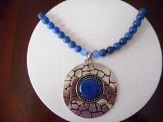 Collares, Collar jade azul, Collar cristal, Collar con colgante, Collar para mujer, Collar para jovenes, Bisuteria de PekitasCreations en Etsy