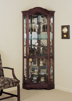 Corner Curio Cabinet from Ginny's ® | Dream Home | Pinterest ...