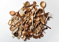 Daily Spoon: A One-year Woodcarving Project by Stian Korntved Ruud, a young Norwegian designer. who uses wood and other natural materials in his craft; I Norway, people have carved in wood and sculpted wooden objects for generations Spoon Collection, Carved Spoons, Different Types Of Wood, Wood Worker, Wood Spoon, Wooden Kitchen, Milk And Honey, Whittling, Dezeen