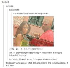 science side of tumblr swag And then the English side XD