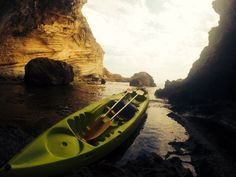 Kayaking into a cave, beautiful scenes and a beautiful island #menorca #island #kayak #kayaking #spain #chilling #cave #rocks #snorkel #gopro