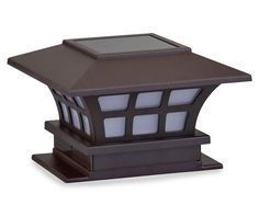 Fence Post Solar Lights, 2-Piece Set at Big Lots.