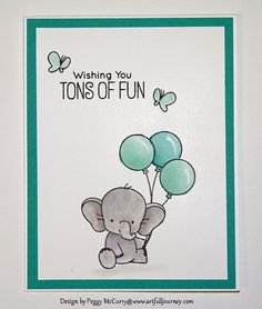 Tons of Fun by - Cards and Paper Crafts at Splitcoaststampers Kids Cards, Baby Cards, Card Making Inspiration, Making Ideas, Birthday Card Drawing, Little Elephant, Mama Elephant, Kids Birthday Cards, Mft Stamps