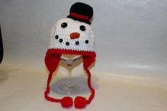 Snowman crocheted hat