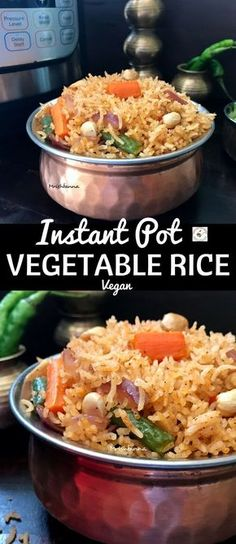 Welcome to Simple Sumptuous Cooking, a vegan cooking blog! Here's a quick recipe for Instant Pot Vegetable Rice.