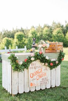 This whimsical drink station is bursting with color and personality | Brides.com