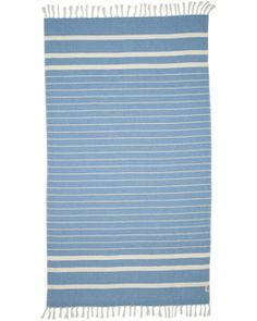 80% Cotton / 20% Bamboo blend Blue on white stripe