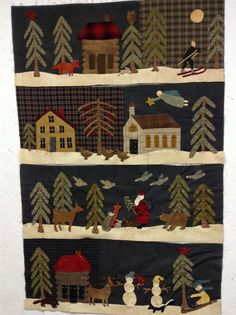 New winter quilt by Norma Whaley of Timeless Traditions, as yet unfinished