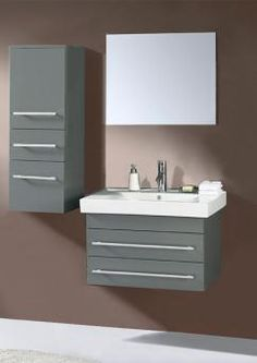 Buy the Virtu USA Grey Direct. Shop for the Virtu USA Grey Antonio Bathroom Vanity Cabinet - Includes Countertop, One Sink, One GPM Faucet With Pop-Up Drain Assembly and Mirror and save. Single Sink Bathroom Vanity, Bathroom Vanity Cabinets, Wall Mounted Vanity, Mirror Cabinets, Single Bathroom Vanity, Vanity Sink, Bath Vanities, Bathroom Furniture, Bathroom Ideas