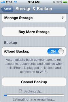 Trucos iPhone: Haz una copia de seguridad de tus datos mediante iCloud