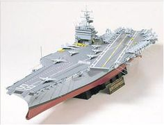 """The Tamiya 1/350 USS Enterprise is a plastic model kit in the Tamiya 1/350 Ship Plastic Model Kits range. This plastic Ship kit requires paint and glue to complete.    About the USS Enterprise Aircraft Carrier  The United States Navy Aircraft Carrier CVN-65 Enterprise, also known as the """"Big E"""", is the worlds largest ship and the first nuclear powered aircraft carrier. Webster defines the word Enterprise as meaning""""Undertaking, Project, A business organization, Initiative, etc."""", and the CVN..."""