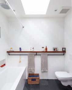 ikea towel rack Bathroom Industrial with bathroom ceiling mount shower head chevron dark