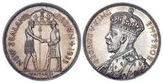 1935 New Zealand George V, Waitangi Crown in UNC lustrous and Rare. Valuable Coins, Coin Shop, New Zealand, Australia, Crown, Personalized Items, Corona, Crowns