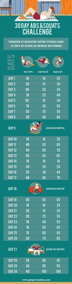 30 Day Abs & Squats Challenge : Le Défi                                                                                                                                                                                 Plus