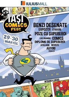 Iași Comisc Fest, în week-end, la Iulius Mall