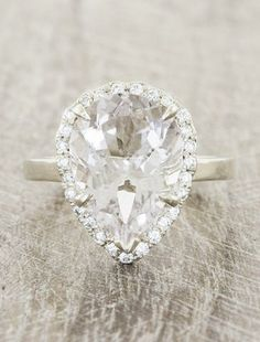 A Perfect 10CT Pear Cut Halo Russian Lab Diamond Ring - which celebrity just purchased this ring for their red carpet event?