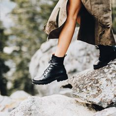 Perfect adventure boots: the Julie Combat. Frye Boots, Combat Boots, Adventure Boots, Icon Collection, Goodyear Welt, Italian Leather, Hiking Boots, Footwear, Shoe Bag