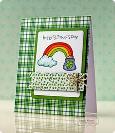 TE Blog Design Team: Lucky You! Card by Wanda Guess #Cardamaking, #StPattysDay, #BlogTeam, #TE, #ShareJoy