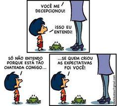 Armandinho - Expectativas Bd Comics, Good Humor, Calvin And Hobbes, Some Words, Comic Strips, Real Life, Jokes, Thoughts, Feelings