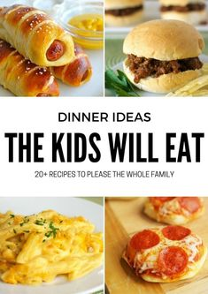 20 Dinner Ideas Even the Kids Will Love. 20 Dinner Ideas Even the Kids Will Love. Dinner doesn't have to be a battle. You can't go wrong with the recipes on this list! Even the kids will love dinner. Say goodbye to making multiple meals a night! Fun Dinners For Kids, Dinner Recipes For Kids, Baby Food Recipes, Healthy Recipes, Kids Fun, Easy Kids Meals, Fun Dinner Ideas, Quick Dinner For Kids, Fun Recipes