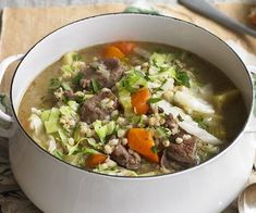 Irish lamb and barley stew, barley recipe, brought to you by Australian Women's Weekly How To Cook Barley, How To Cook Pork, How To Cook Rice, How To Cook Shrimp, Classic Vegetable Soup Recipe, Vegetable Soup Recipes, Cooking Wild Rice, Cooking Beets, Cooking Barley