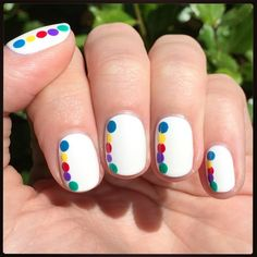 Nails inspired by the Inside Out movie!