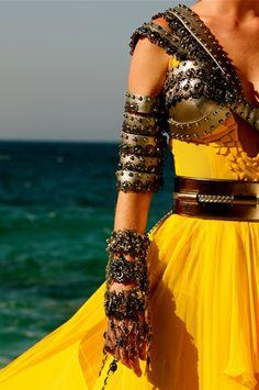 Fashionable armor via Tyra