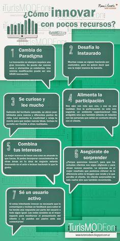 Cómo innovar con pocos recursos #infografia #infographic #innovation