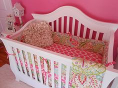 Design your own crib bedding available from Miss Polly's Piece Goods~~  https://www.etsy.com/shop/MissPollysPieceGoods