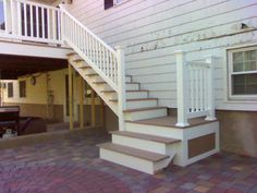 deck stairs to patio