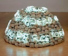 Mario Merz, Igloo di Giap, 1968 - Around the igloo Merz installed the phrase in neon lettering: Se il nemico si concentra perde terreno se si disperde perde forza (If the Enemy Masses His Forces, He Loses Ground; If He Scatters, He Loses Strength)...